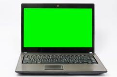 Портативный компьютер изолированный на белой предпосылке Стоковое Фото