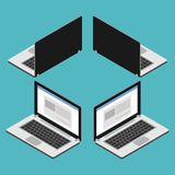Портативный компьютер равновеликий бесплатная иллюстрация