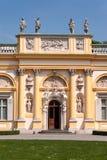 Портал дворца Wilanow в Варшаве, Польше Стоковое фото RF
