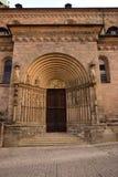 Портал на имперском соборе в Бамберге, Германии Стоковые Изображения RF