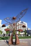 Портал скульптуры развития в городской площади, Reno, Неваде Стоковое фото RF