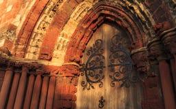 Портал собора St Магнуса Стоковое фото RF