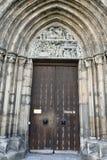 Портальная входная дверь St Sebalduskirche в Нюрнберге Стоковое фото RF