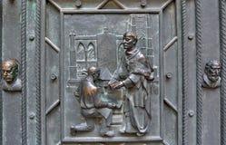 Портальная деталь собора St Vitus Стоковые Изображения RF