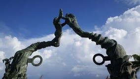 Портальная скульптура Майя Стоковое фото RF