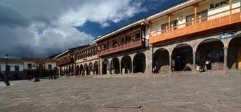 Портальн de Carnes armas de площадь Cusco Перу Стоковые Фото