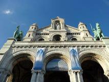 Портик базилики Sacre-Coeur Стоковая Фотография
