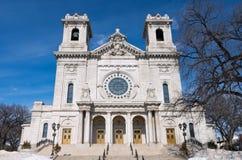 Портик лестниц базилики и передний фасад стоковые изображения rf