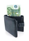 портмоне евро стоковые изображения