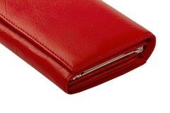 Портмоне женщин неподдельной кожи красное Стоковое Изображение RF