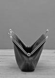 портмоне пустого финансового убытка принципиальной схемы старое Стоковая Фотография RF