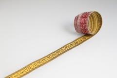 портновский метр на белой предпосылке Стоковое Изображение RF