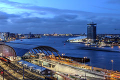 Портовый район Амстердама, Нидерланды Стоковые Фотографии RF