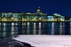 Городок ночи старый Стоковое Изображение RF