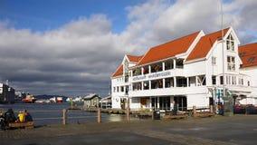 Портовый район Бергена Bryggen, Норвегия Стоковые Изображения RF
