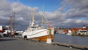 Портовый район Бергена Bryggen, Норвегия Стоковые Фотографии RF