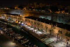 Портовый район Валлетты, Мальта Стоковое Изображение RF