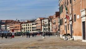 Портовый район Венеции, Италии стоковые фотографии rf