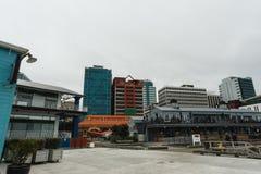 Портовый район Веллингтона, Новая Зеландия Стоковые Фото