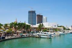 портовый район взгляда miami Стоковые Изображения RF