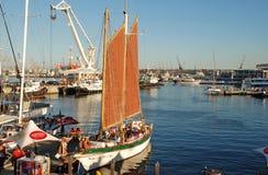 Портовый район Виктории и Альфреда в Кейптауне, Южной Африке Стоковые Фотографии RF