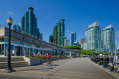 Портовый район в Ванкувере, Британской Колумбии Стоковое Фото