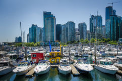 Портовый район в Ванкувере, Британской Колумбии Стоковая Фотография