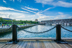 Портовый район в северном конце Бостона, Массачусетса Стоковое фото RF
