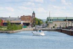 Портовый район в Collingwood, Онтарио Стоковые Изображения