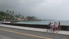 Портовый район Гаваи острова Kona большой видеоматериал