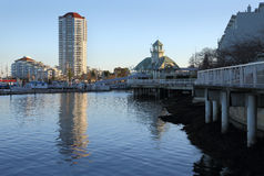 Портовый район гавани Nanaimo, Британская Колумбия Стоковое фото RF