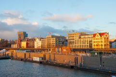 Портовый район Гамбурга стоковые изображения