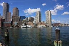 портовый район горизонта boston Стоковые Фотографии RF