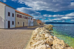 портовый район городка bibinje dalmatian Стоковая Фотография