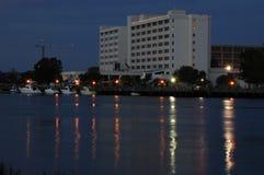 портовый район гостиницы Стоковые Фотографии RF