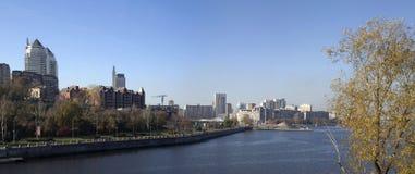 Портовый район Днепропетровск панорамы Стоковое Изображение