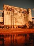 портовый район зерна лифта стоковые фото