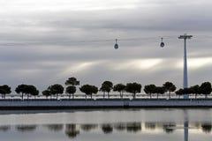 Нации Лиссабона паркуют променад стоковое изображение rf