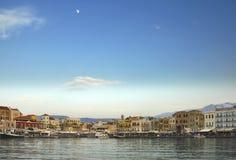 портовый район места Крита штанги Стоковые Изображения RF