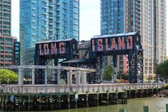 Портовый район Нью-Йорка города Лонг-Айленд Стоковое Фото