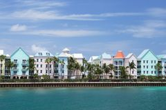 Портовый район острова рая, Нассау, Багамские острова Стоковые Изображения