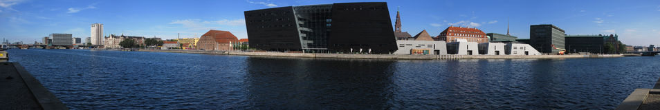 портовый район панорамы copenhagen Стоковые Фото