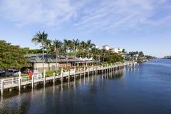 Портовый район пляжа Pompano, Флорида стоковые изображения