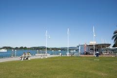 Портовый район Тауранги Новой Зеландии стоковая фотография rf