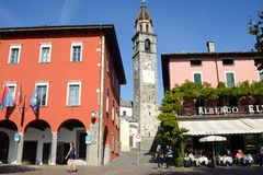 Портовый район Ascona на Швейцарии Стоковая Фотография RF