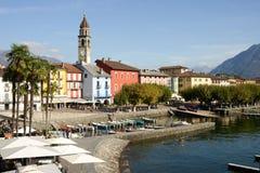 Портовый район Ascona на Швейцарии Стоковая Фотография