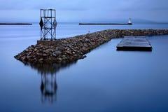 портовый район burlington Вермонта Стоковые Фото