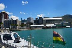 Портовый район Caudan, Порт Луи, Маврикий стоковая фотография rf