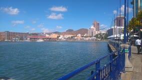 Портовый район Caudan & x28; Mauritius& x29; Стоковое Изображение