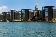 портовый район copenhagen Стоковое фото RF